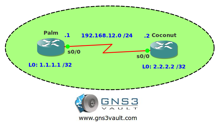 OSPF Demand Circuit Network Topology